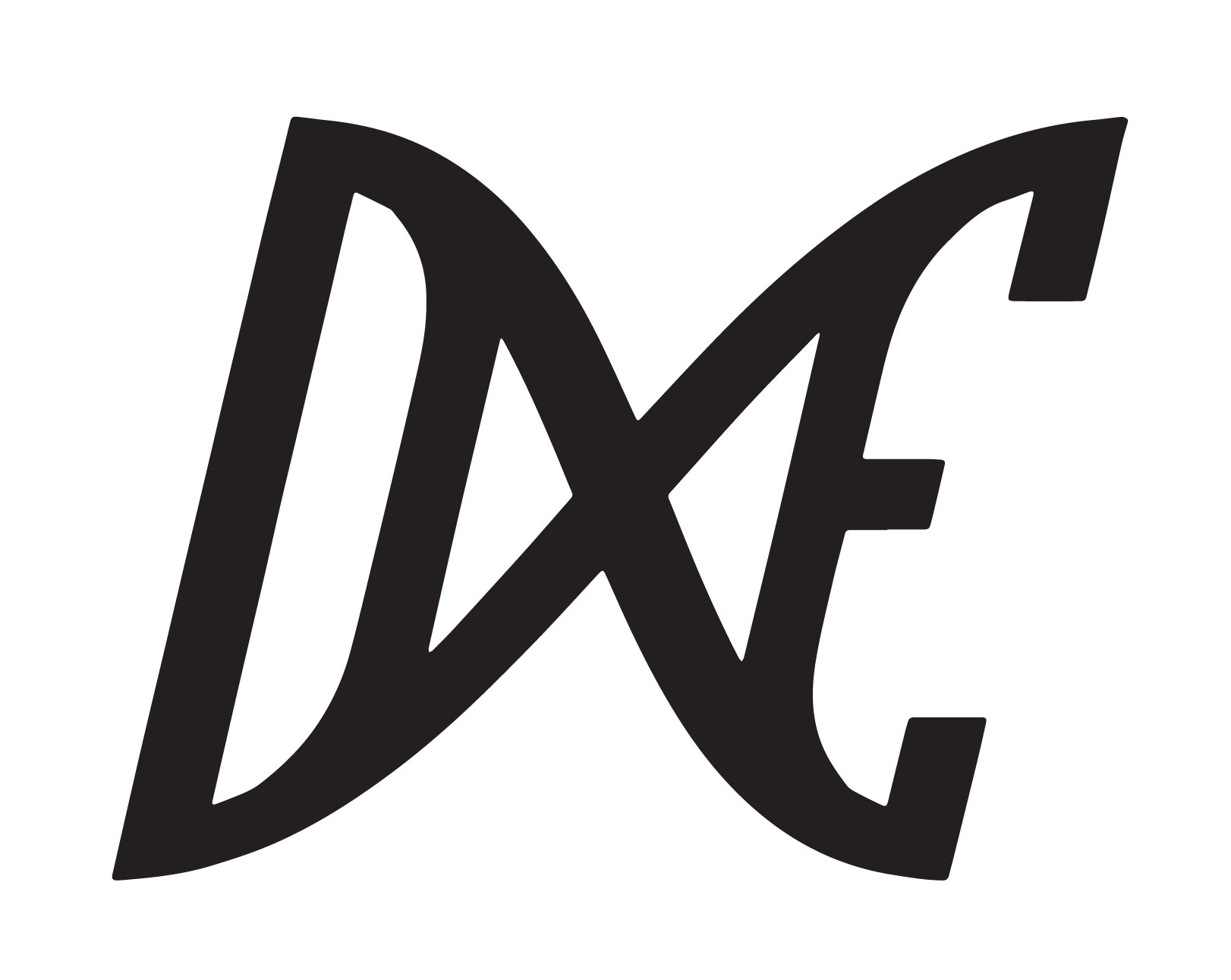 dxe 2020 logo only black